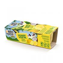Danival - Dessert végétal coco citron 2x100g