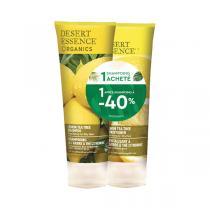 Desert Essence - Lot shampoing et après shampoing au citron 2x237ml