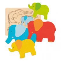 Goki - Puzzle à couches Éléphant - Dès 2 ans