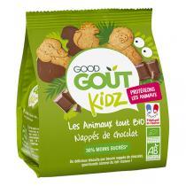 Good Gout - Biscuits animaux nappés de chocolat 120g - Dès 36 mois