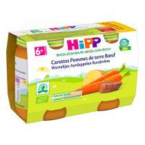 HiPP - Carottes et pommes de terre au boeuf 2x190g - Dès 6 mois