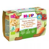 HiPP - Pâtes au jambon légumes 2x190g - Dès 6 mois