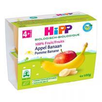 HiPP - Pomme banane 4x100g - Dès 4 mois