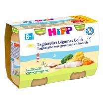 HiPP - Tagliatelles légumes et colin 2x190g - Dès 8 mois