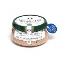 Les Petites Marmites - Pâté de canard au poivre vert 150g