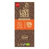 Lovechock - Tablette chocolat noir cru abricot et gingembre Hiver 70g