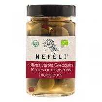 NEFÉLI - Olives vertes farcies aux poivrons 300g