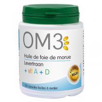 OM3 - Huile de foie de morue et vitamine A et D 120 capsules