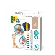 SES Creative - Feutres bébés Sophie la girafe - Dès 12 mois