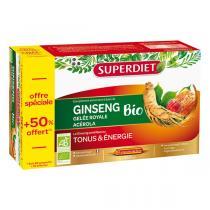 SUPERDIET - Tonus et énergie Ginseng 20x15ml + 50% offert