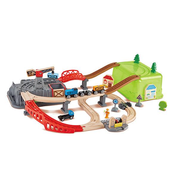 Hape - Coffret train boite-circuit - Des 3 ans