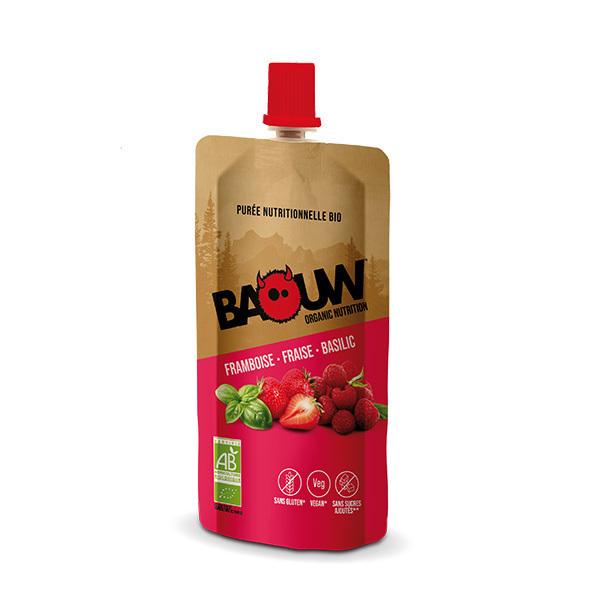 Baouw - Purée framboise fraise basilic 63g