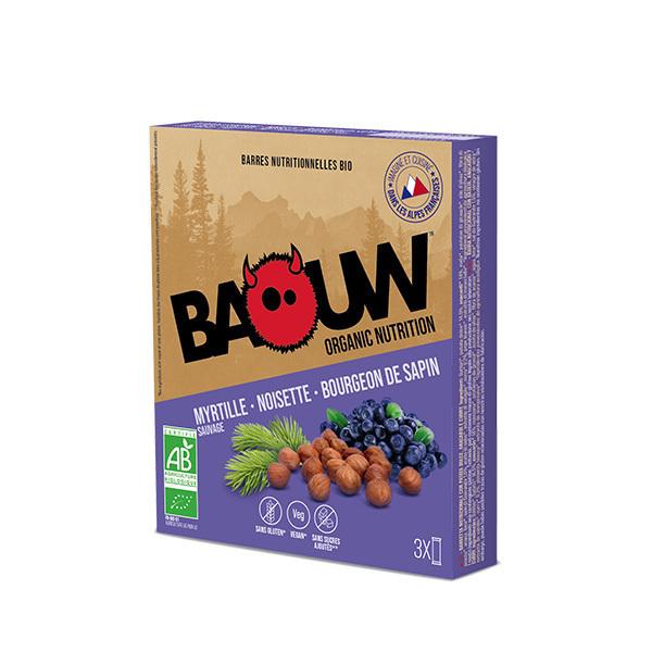 Baouw - Barres myrtille sauvage noisette bourgeon de sapin 3x25g