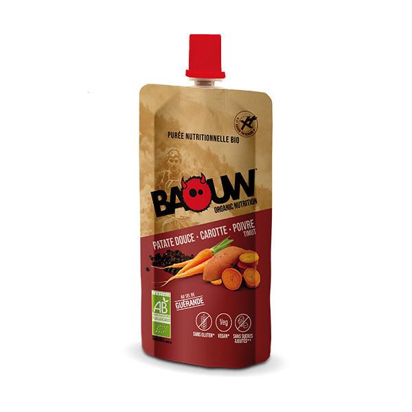 Baouw - Purée patate douce carotte poivre Timut 63g
