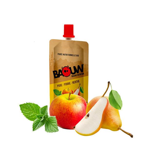 Baouw - Purée poire pomme menthe 63g