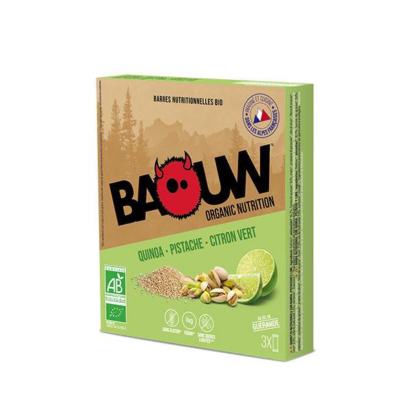 Baouw - Barres quinoa pistache citron vert 3x25g