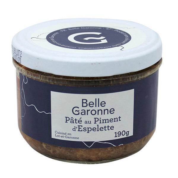 Belle Garonne - Pâté au piment d'Espelette 190g