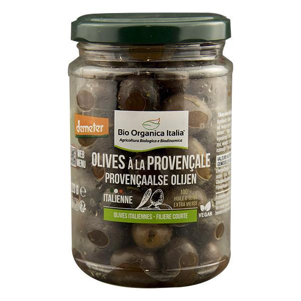 Bio Organica Italia - Olives noires à la provençale 220g