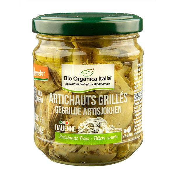 Bio Organica Italia - Petits artichauts grillés 190g
