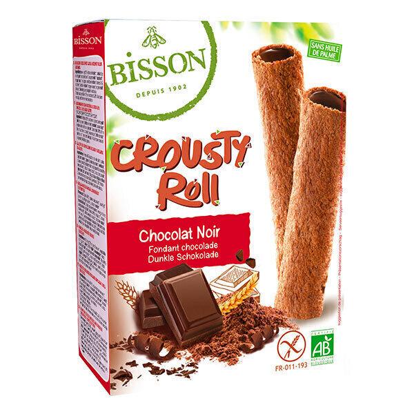 Bisson - Biscuit Crousty Roll chocolat noir 125g