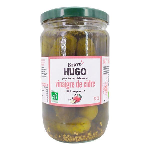 Bravo Hugo - Cornichons au vinaigre de cidre 72cl