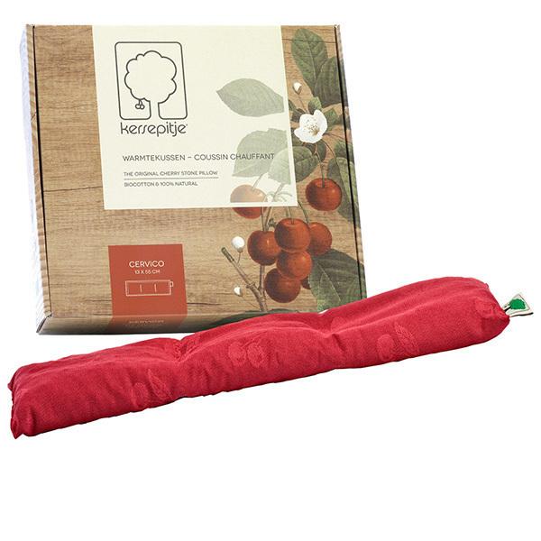 Cherry - Coussin chauffant noyaux de cerise Cervico 13x55cm