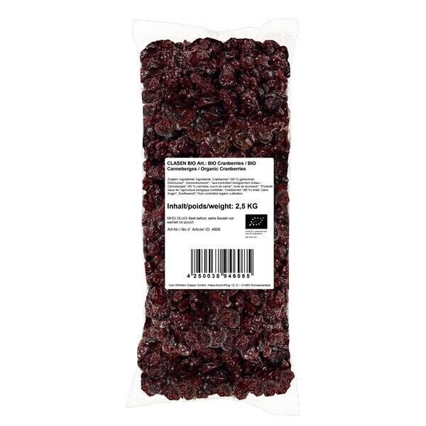 Clasen Bio - Canneberges séchées 2,5kg