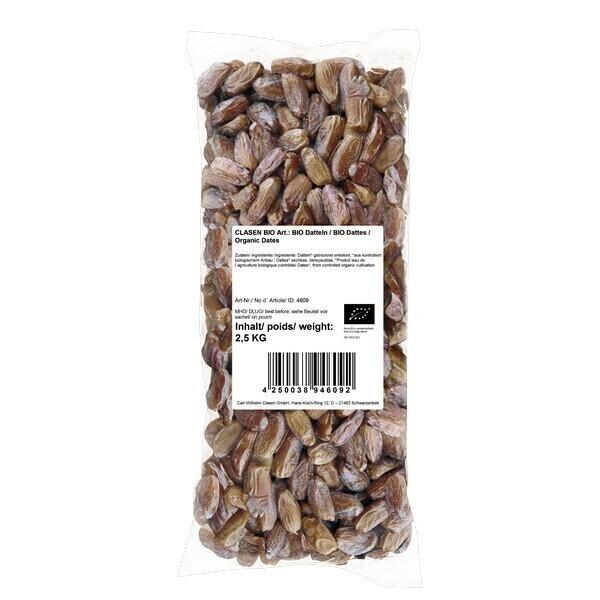 Clasen Bio - Dattes dénoyautées et séchées 2,5kg