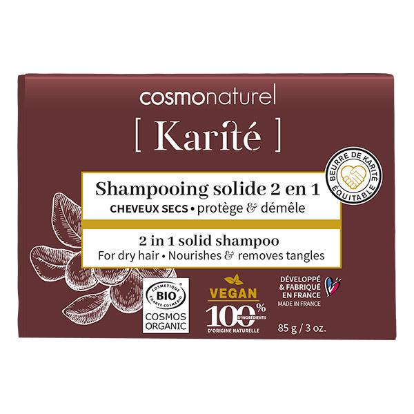 Cosmo Naturel - Shampoing solide 2en1 cheveux secs 85g