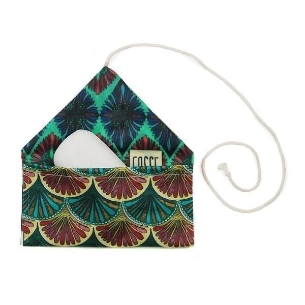 Cosse Nature - Pochette à savon en coton Fleurs 10 x 16cm