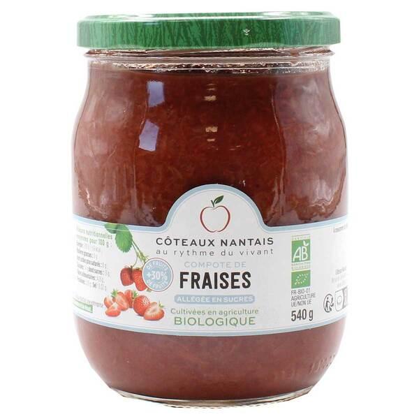 Côteaux Nantais - Compote de fraises allégée 540g