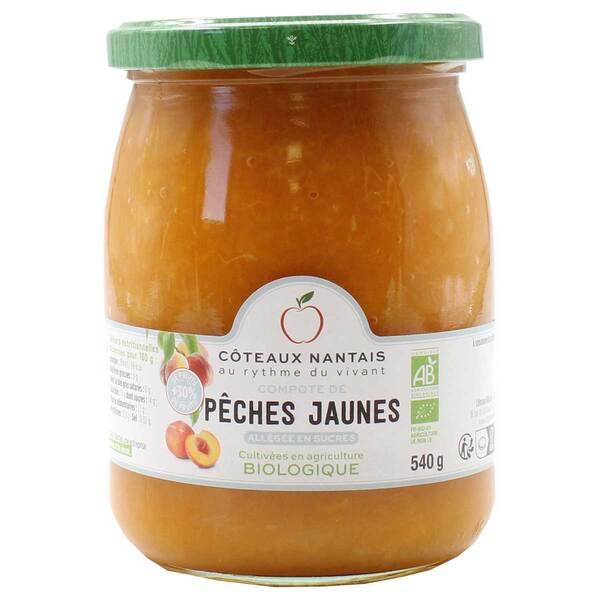 Côteaux Nantais - Compote de pêches jaunes allégée 540g