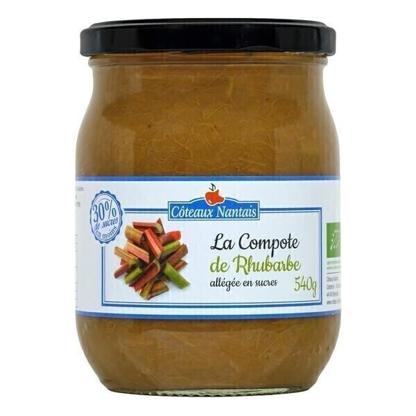 Côteaux Nantais - Compote de rhubarbe allégée 540g