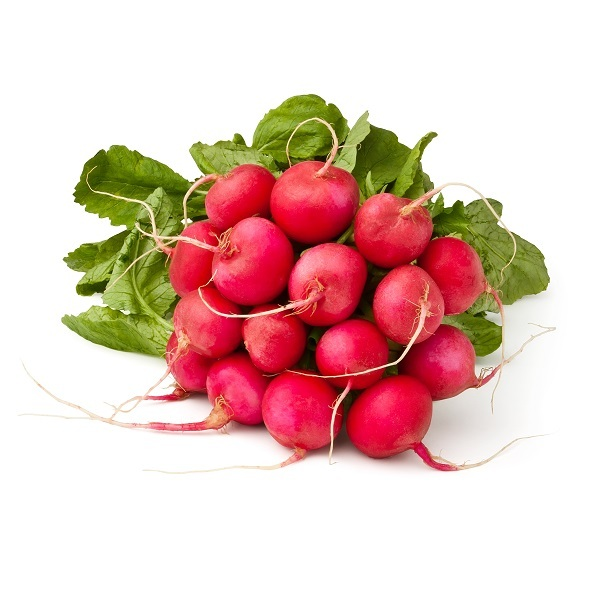 Fruits & Légumes du Marché Bio - Radis ronds rouges en botte. France