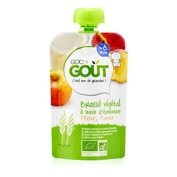 Good Gout - Brassé végétal épeautre pêche pomme 90g - Dès 6 mois