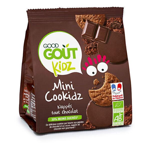 Good Gout - Cookidz nappés tout chocolat 115g - Dès 36 mois