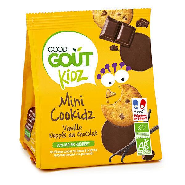 Good Gout - Cookidz vanille nappés chocolat 115g - Dès 36 mois