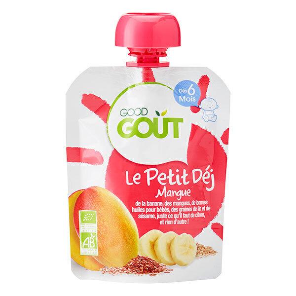 Good Gout - Gourde Le petit déj Mangue 70g - Dès 6 mois