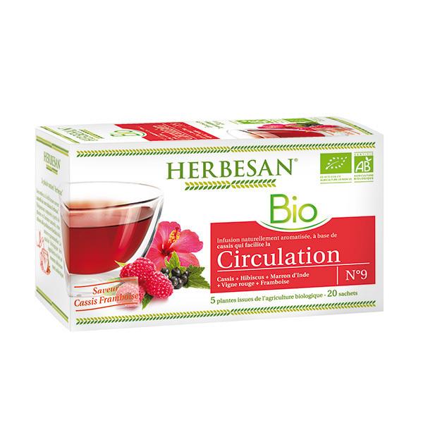 Herbesan - Infusion circulation bio 20 sachets
