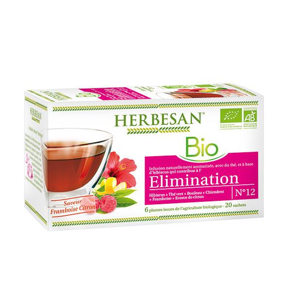 Herbesan - Infusion élimination bio 20 sachets