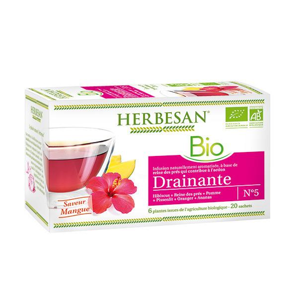 Herbesan - Infusion drainante bio 20 sachets