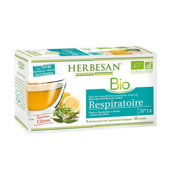 Herbesan - Infusion respiration bio 20 sachets