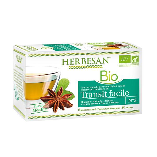 Herbesan - Infusion transit facile bio 20 sachets
