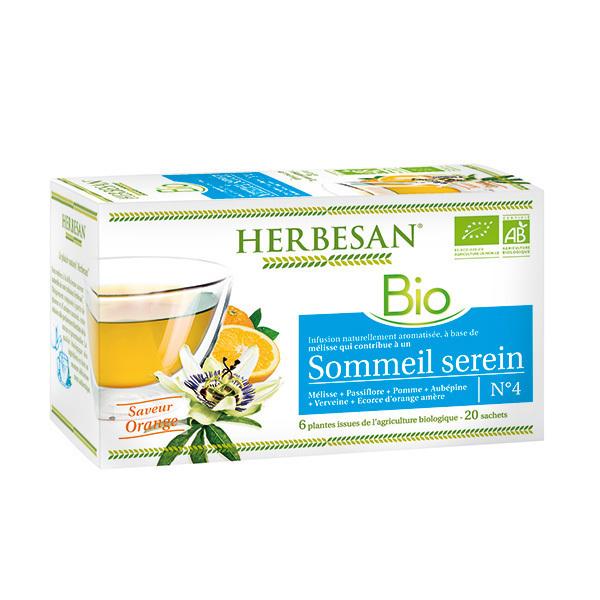 Herbesan - Infusion sommeil serein bio 20 sachets