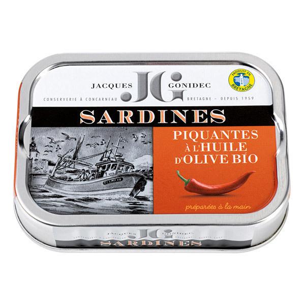 Jacques Gonidec - Sardines piquantes à l'huile d'olive 115g