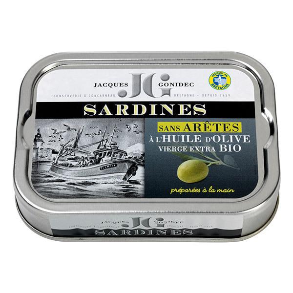 Jacques Gonidec - Sardines sans arêtes à l'huile d'olive 115g