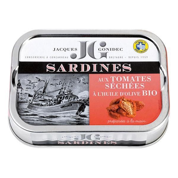 Jacques Gonidec - Sardines tomates séchées et huile d'olive 115g