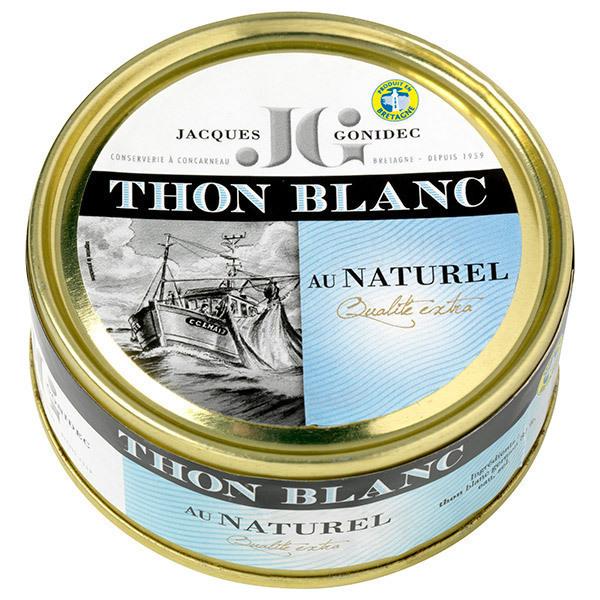 Jacques Gonidec - Thon blanc au naturel 160g