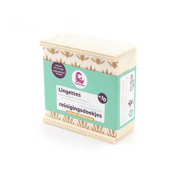 Lamazuna - Coffret lingettes démaquillantes écologiques x10