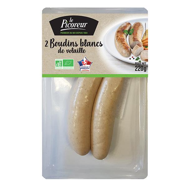 Le Picoreur - Boudins blancs de vollaille origine France 220g